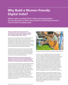 Why Build a Women-Friendly Digital India. Women's World Banking. 2017.