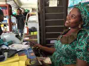 A rural woman enterpreneur from Nigeria