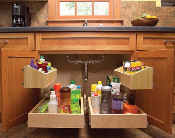 5 Ways to make the most of the space below your sink