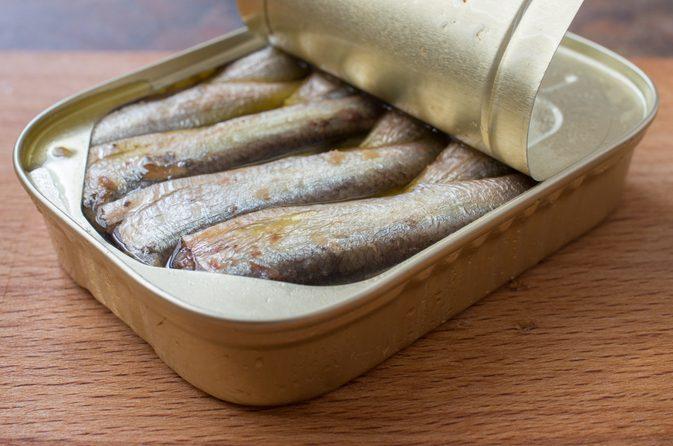 sardine and drain