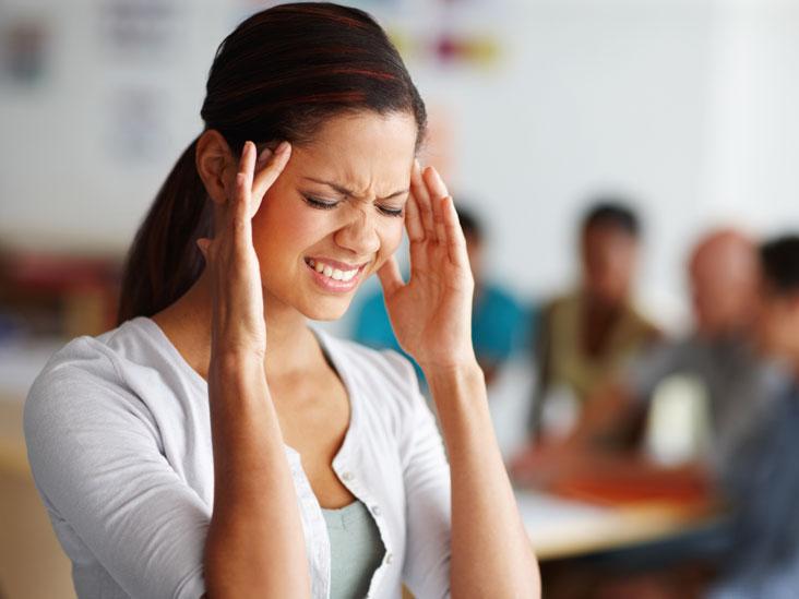 women suffering from headache