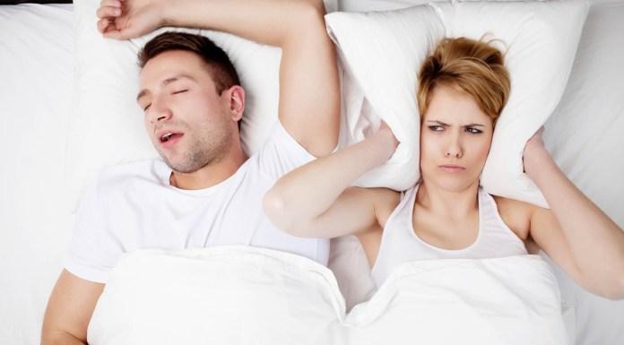 Snoring man problems