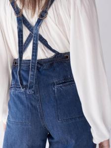 Suspenders of jeans
