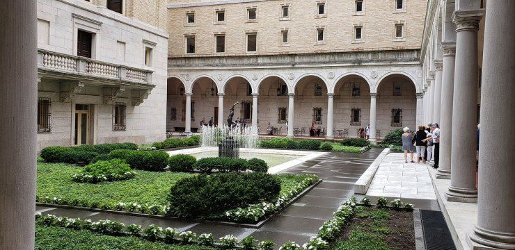 Central Library Courtyard, Boston Public Library