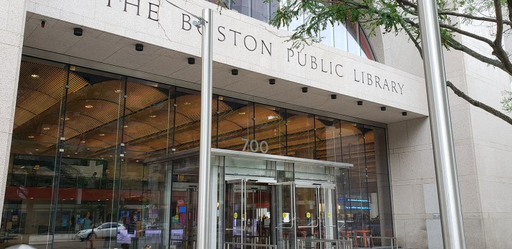 Boston Public Library, Main Entrance at Copley Square