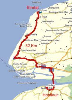 7. Etappe von Etretat nach Honfleur