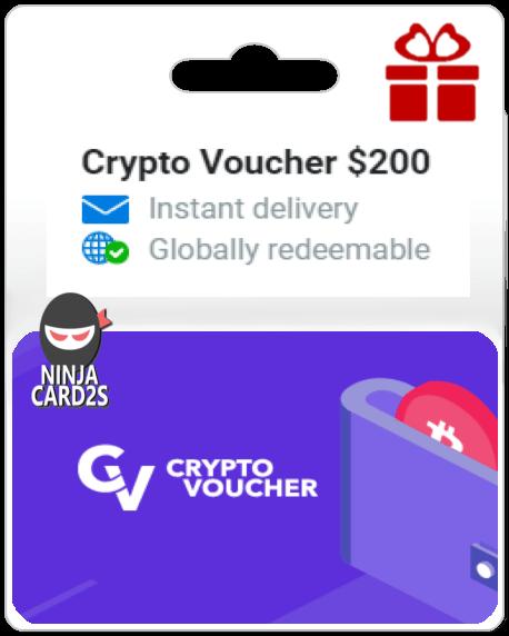 Buy Crypto Voucher Online $ 200