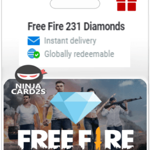 Free Fire 231 Diamonds Gift Cards $ 2.00