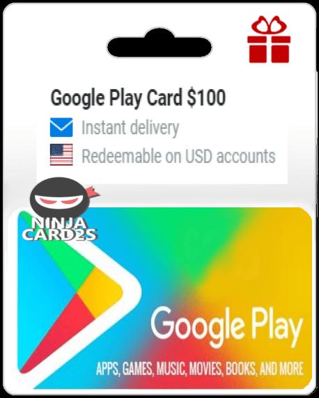 Buy a Google Play Card $100