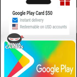 Google Play Card 50 USD