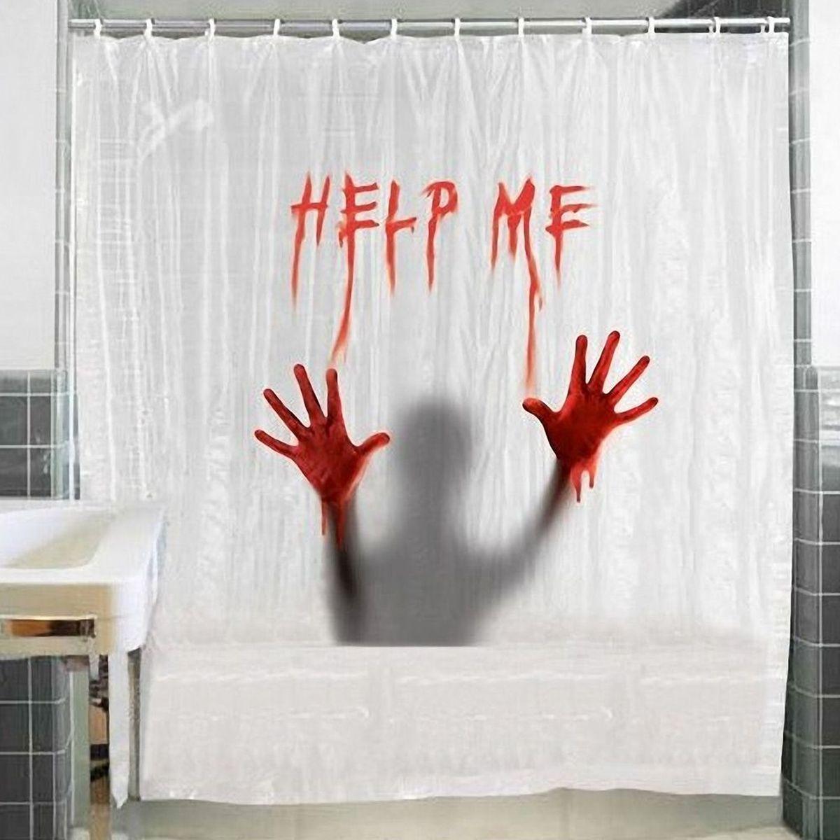 help me shower curtain 180 x 180 cm