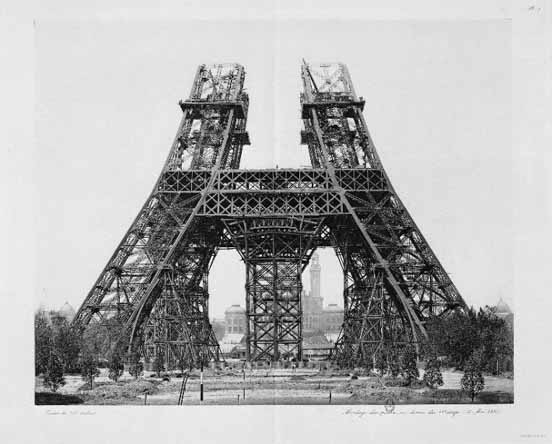 Eiffel Tower - after 1 step complete