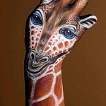 Painted Hands - Giraffe