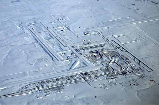 Denver International Airport after snowstorm