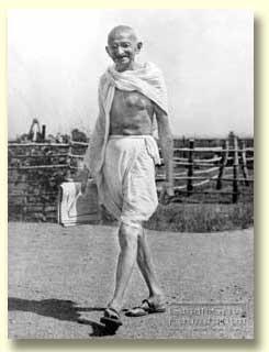 Mahatma Gandhi - walking