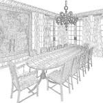 letter art - dining room