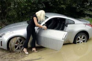 Car in mud