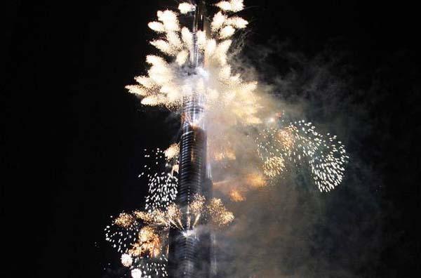 burj inauguration fireworks