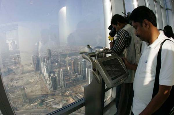 burj khalifa top floor