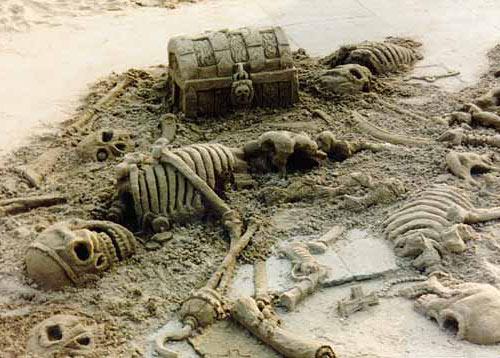 sand sculpture - skeleton