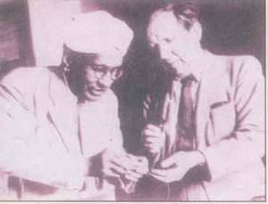 Raman showing diamonds to J.D.Bernal