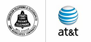 AT&T logo old vs new