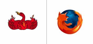 Mozilla Firefox logo old vs new