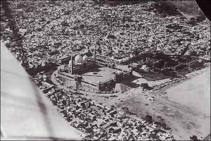 Aerial view of Jama Masjid in Delhi