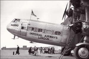 Imperial Airways Hanno Hadley Page passenger airplane