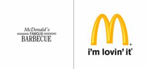 McDonald's logo old vs new