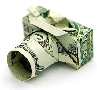 Money Origami - One Dollar Camera