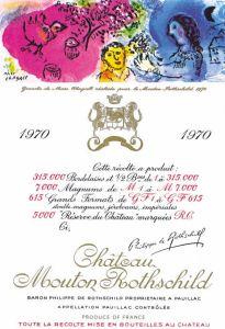 Arte Vino Marc Chagall - Château Mouton Rothschild 1970