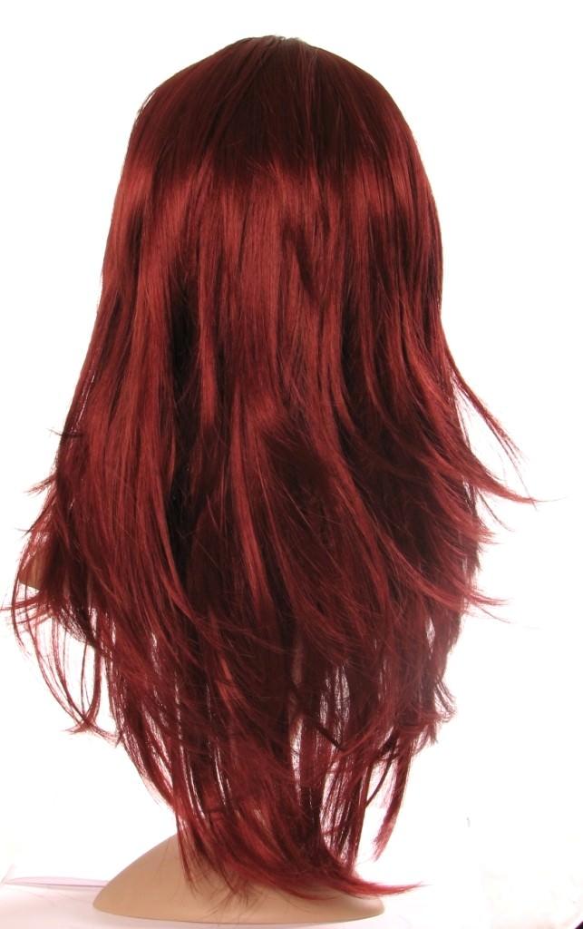 Cassy Long Dark Red Wig Dark Red Wigs UK
