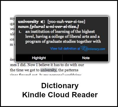 Kindle Cloud Reader Notes