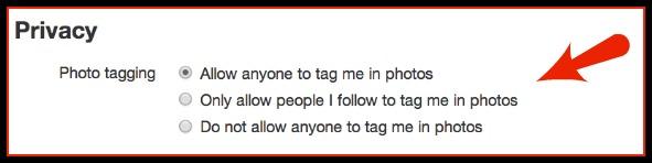 Twitter Photo Tagging Block