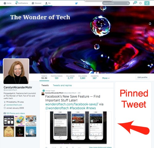 Twitter Profile Pinned Tweet