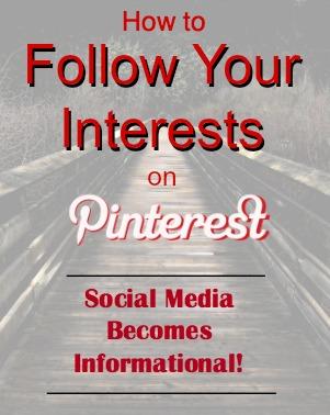 Follow Interests on Pinterest