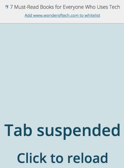 Tab Suspended The Great Suspender