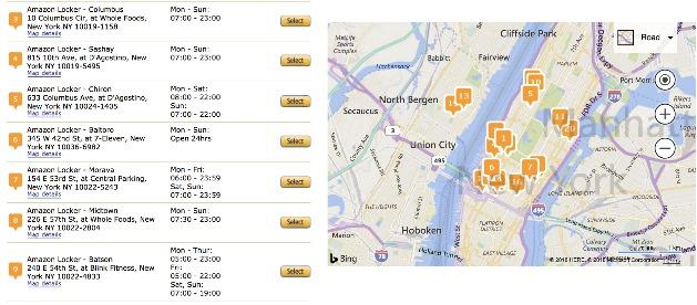 Amazon Locker Location List and Map