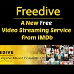 Freedive — A New Free Video Streaming Service from IMDb