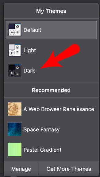Dark Theme Firefox