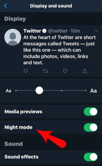 Night Mode Twitter App
