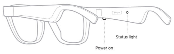 Bose Frames Power On Button