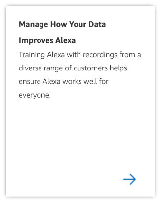 Manage Alexa Data Page