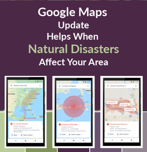 Natural Disaster Aid Google Maps Update