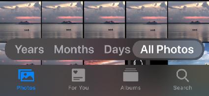 iOS 13 Find Photos Easier
