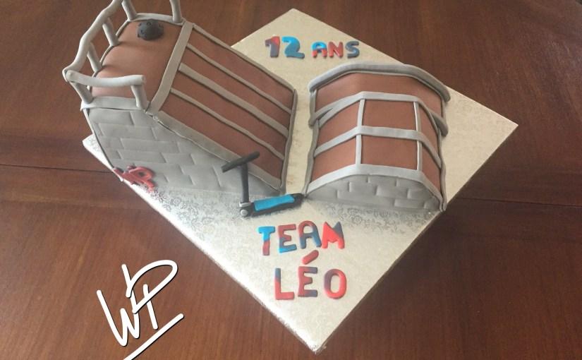 Cake Design : la reproduction du Skate Park préféré de mon fils
