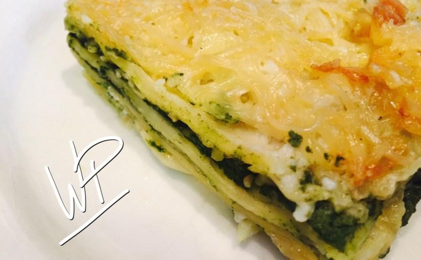 Lasagnes fraiches, épinard ricotta