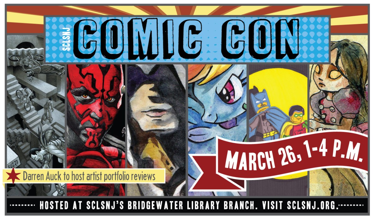 Comic Con hosted at SCLSNJ (2016) - created by Carolann DeMatos of Wonderpug Graphics