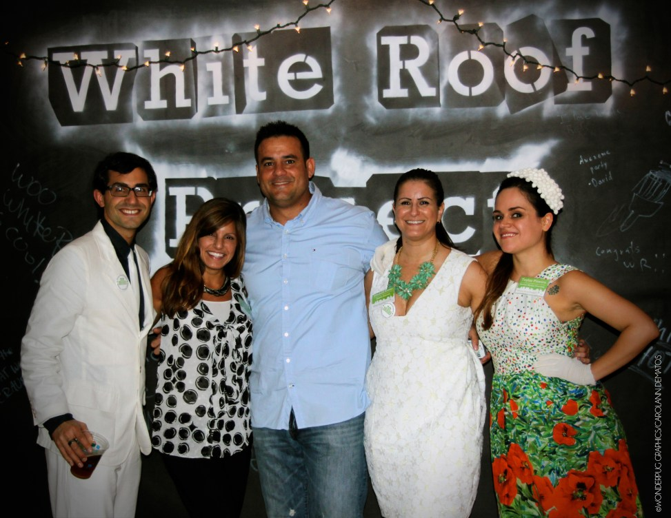 White Roof Project: 'Paint the Town White' photographed by Carolann DeMatos of Wonderpug Graphics